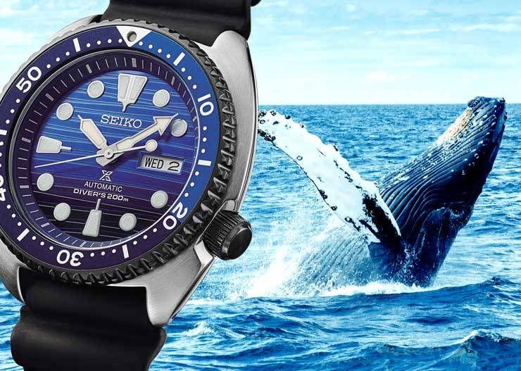 """Seiko Prospex Turtle """"Blue Whale"""" Diver Automatikuhr SRPC91K1 - Save the Ocean Vol. 1 - Special Edition"""