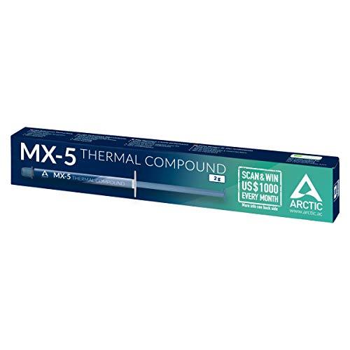 [Amazon Verfügbarkeitsfehler] ARCTIC MX-5 (2 g) - Wärmeleitpaste sofort lieferbar (metallfrei, nicht leitend, nicht kapazitiv) [Prime]