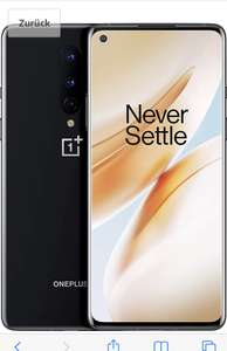 "OnePlus 8 (5G) Smartphone 8GB + 128GB Speicher, 6.55"""