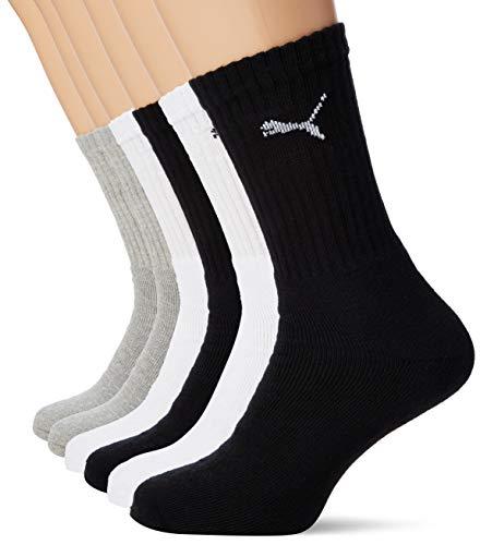 PUMA 6 Paar Sportsocken Tennis Socken Gr. 35-49 Unisex für sie und ihn