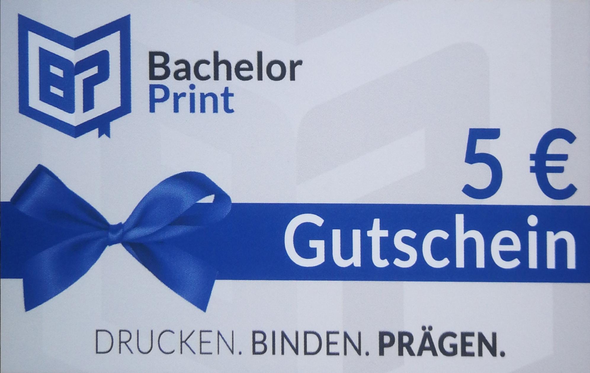 [BachelorPrint] 5€ Gutschein für das Drucken von Abschlussarbeiten (MBW 50€)