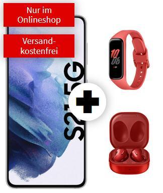 Samsung Galaxy S21 mit Fit 2 und Buds Live im Debitel Telekom (10GB LTE, Allnet, VoLTE) mtl. 29,99€ einm. 79€