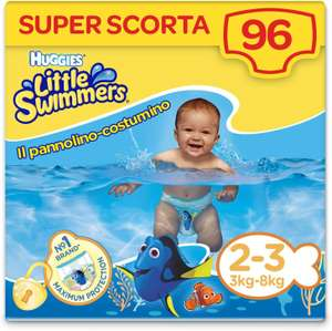 [Prime] Huggies Little Swimmers Windeln, Größe 2-3 (3-8 kg), 96 Windeln
