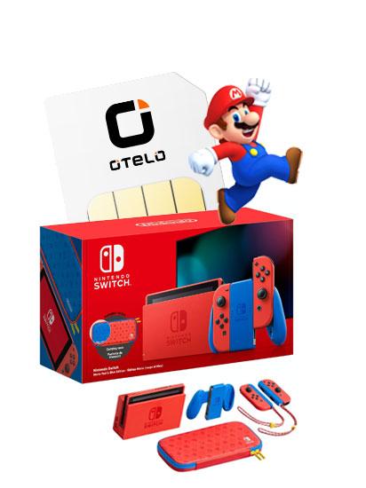 Nintendo Switch Mario Red & Blue Edition mit Otelo Allnet-Flat Classic (10GB LTE) für 0€ ZZ & mtl. 19,99€ [Vodafone-Netz]