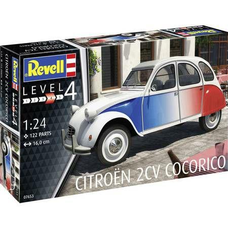 "[Saturn Abholung] REVELL Sammeldeal, Revell Model Set Citroën 2 CV ""Cocorico"", Lvl. 4, 122 Teile"