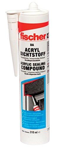fischer Acryldichtstoff DA, geruchsarme Dichtmasse, Fugenmasse für Ausbesserungen und Risse im Mauerwerk, 310 ml, oder Pattex 4,29€ (Prime)