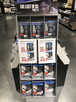 PS4 The Last of Us Part 2 25€ und Ghost of Tsushima 40€ (Lokal Real Markthalle Aschaffenburg)