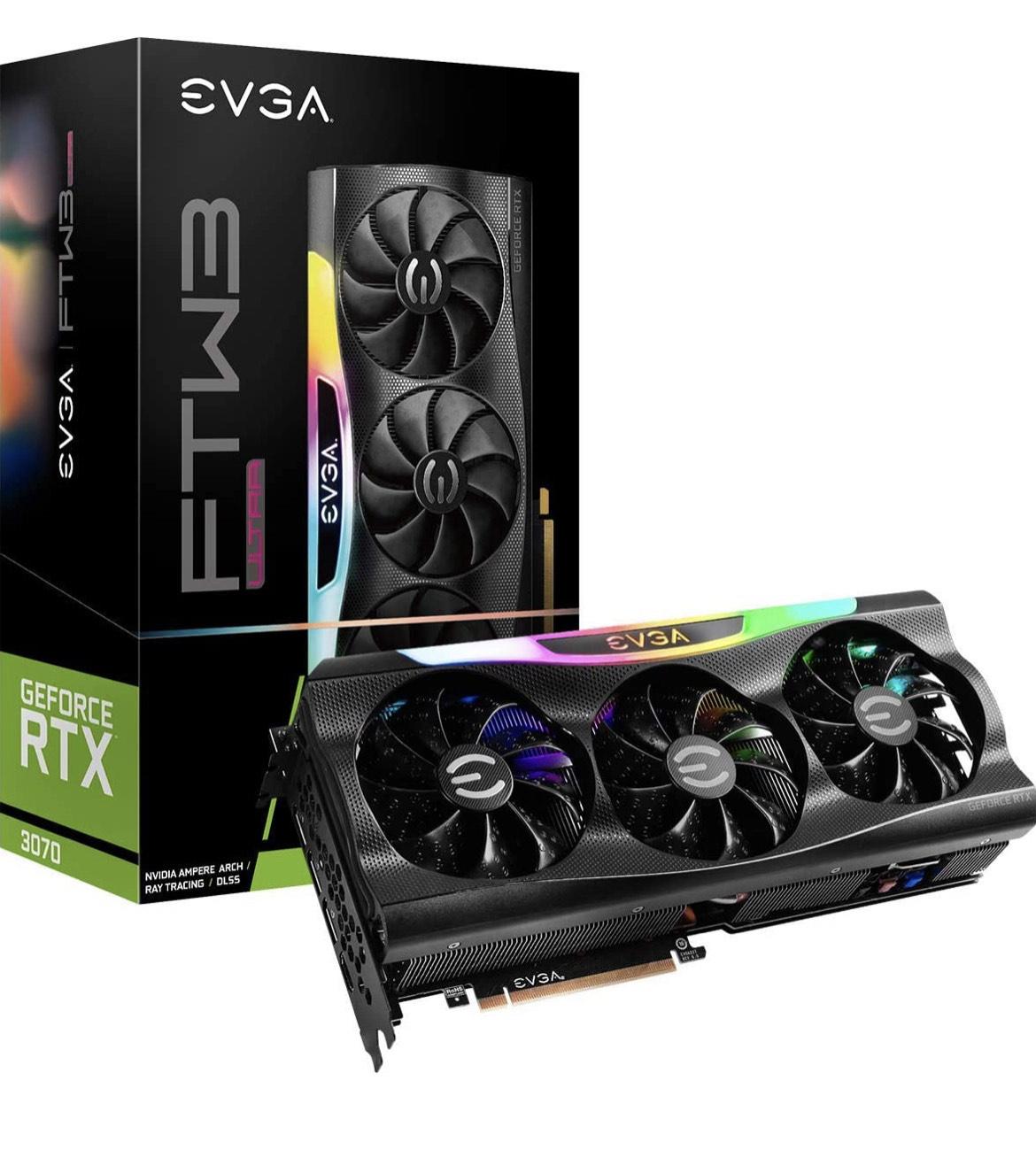 EVGA 08G-P5-3767-KR GeForce RTX 3070 FTW3 Ultra Gaming, 8GB GDDR6