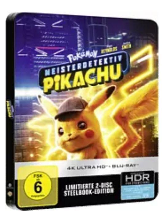 Pokémon Meisterdetektiv Pikachu (Steel Edition) 4K Ultra HD Blu-ray + Blu-ray