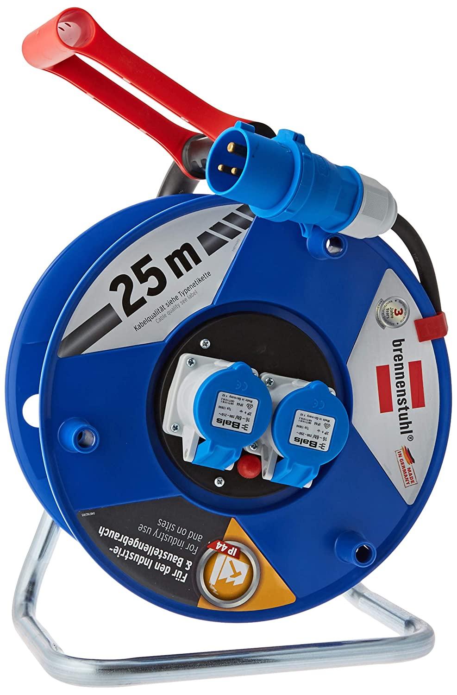 Brennenstuhl Garant CEE 2 IP 44 Industrie/Baustellentrommel 25m für dauerhaften Außeneinsatz