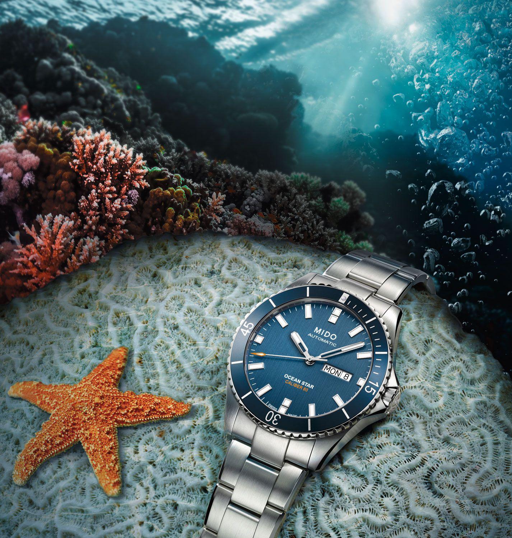 Mido Ocean Star Captain V Diver Automatikuhr - Mido Calibre 80 - doppelt entspiegeltes Saphirglas - 42,5mm - Swiss made