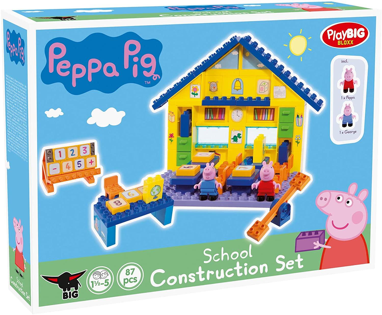 [Amazon Prime] BIG 800057075, PlayBIG Bloxx Peppa Pig School, Bau- & Konstruktionsspielzeug, Mehrfarbig, ab 18 Monaten