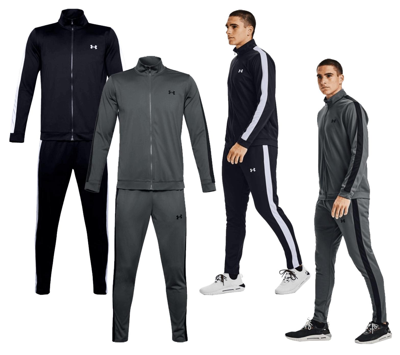Under Armour Trainingsanzug EMEA Track Suit // dunkelgrau/schwarz und schwarz/weiß