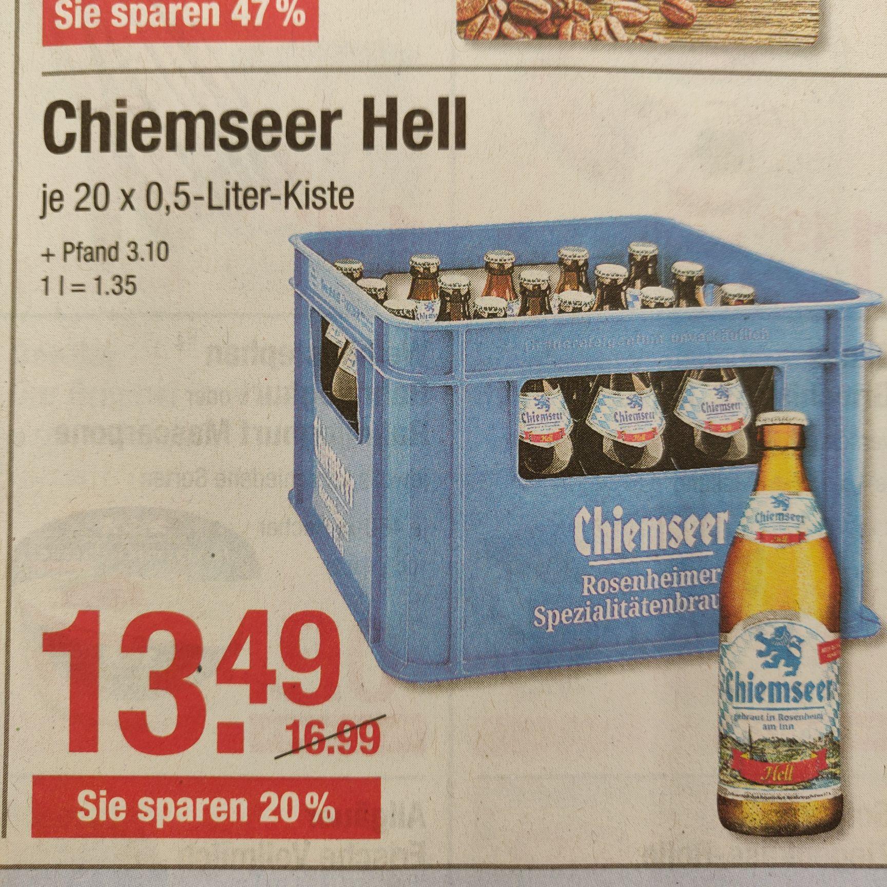 Chiemseer Hell Kasten 20x 0,5L V-Markt
