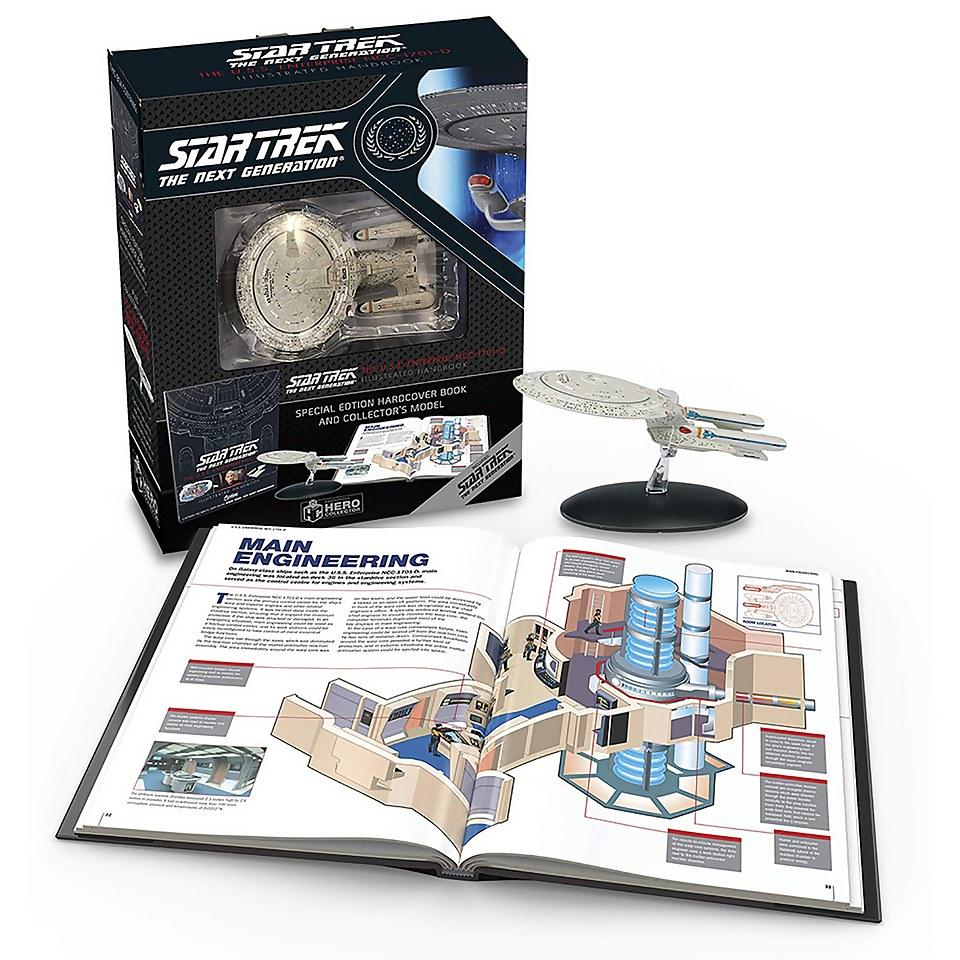 Eaglemoss STAR TREK The Next Generation: The U.S.S. Enterprise NCC-1701-D Illustrated Handbook (englisch) + Druckgussmodell