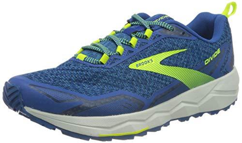 Brooks Divide Hybrid-Trail-Laufschuhe (Größe 45) blau-gelb