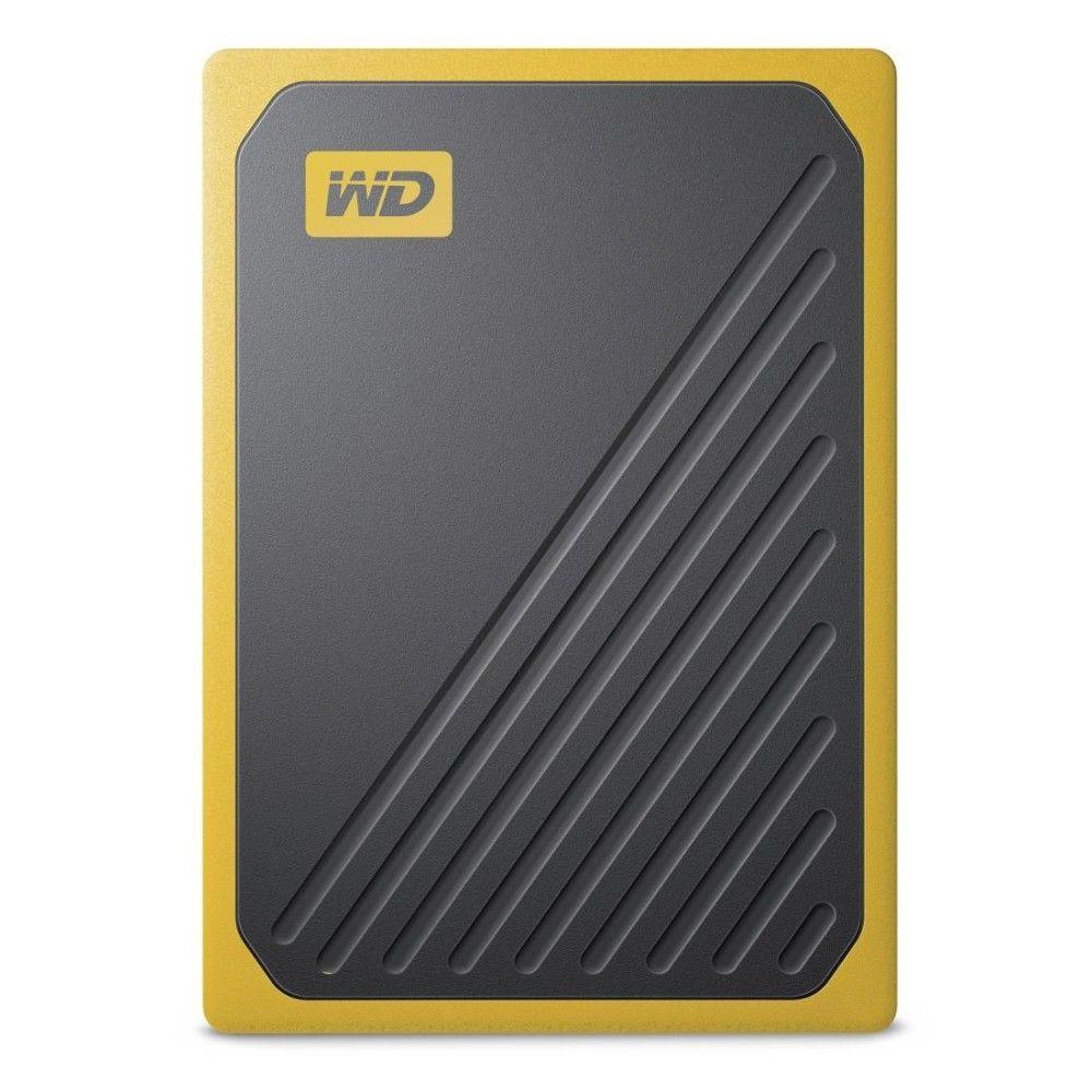 WD (Western Digital) My Passport Go 500GB schwarz/gelb externe SSD Festplatte (2,5 Zoll, USB 3.0)