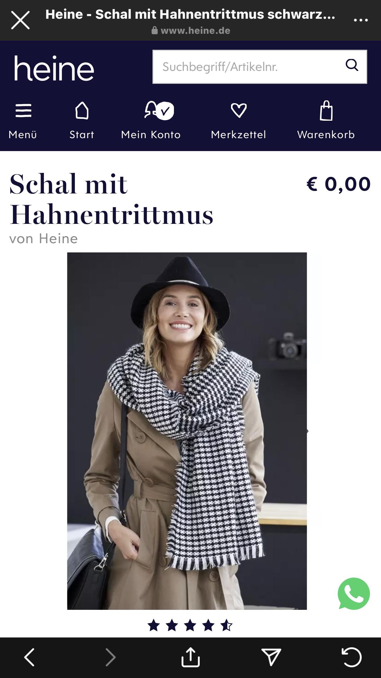 Gratis-Schal bei Heine