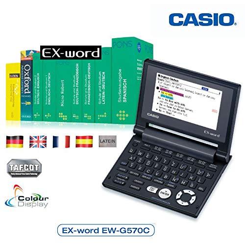 Casio EW-G570C Elektronisches Wörterbuch Deutsch, Englisch, Französisch, Spanisch, Latein
