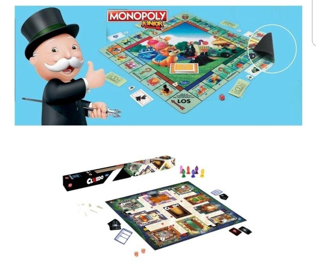 Hasbro Monopoly oder Cluedo Junior XL Spielmatte 61x61cm für je 8,80€