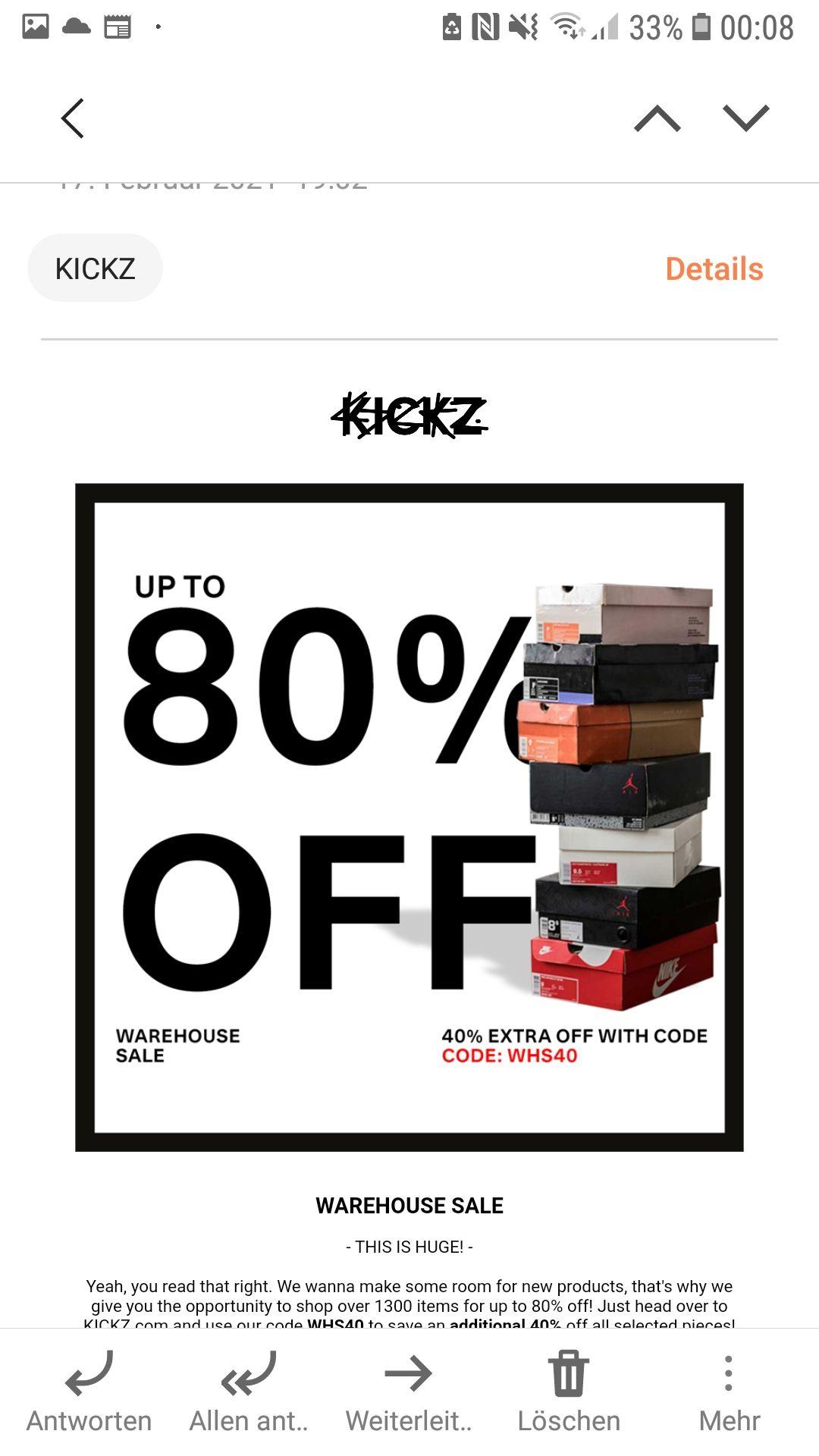 Warehouse Sale bei Kickz