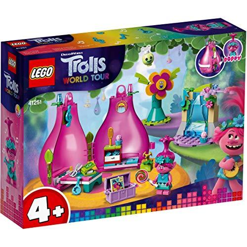 [Prime] LEGO 41251 Trolle World Tour Poppy's Wohnblüte Spielset, tragbares Reisespielzeug für Kinder im Vorschulalter (103 Teile)