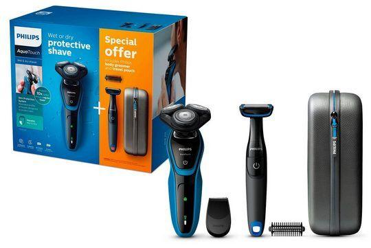 Philips Rasierer Aqua Touch Series 5000 Inkl. Präszisionstrimmer, Bodygroom & Reiseetui