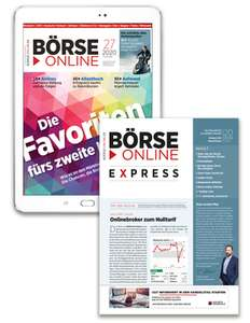 [Finanzen Verlag] 4 Wochen BÖRSE ONLINE digital. Mit Gutschein nur 1,- €! (Achtung: automatische Verlängerung)