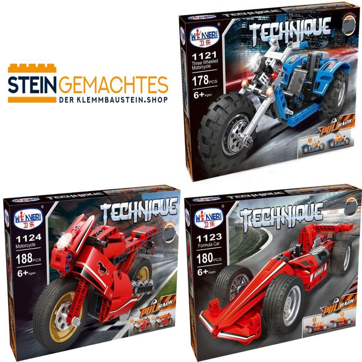 [Klemmbausteine] Winner Technik Bundle (1123+1124+1121) @ steingemachtes.de