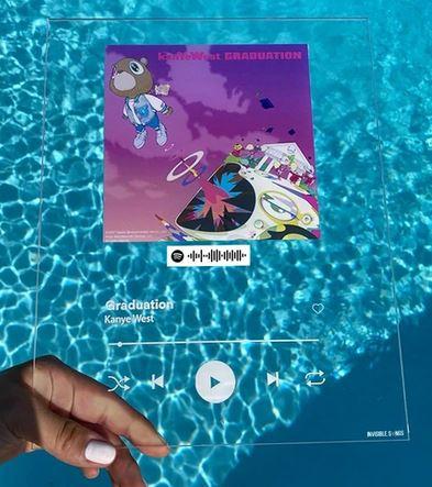 2 für 1 Individualisiertes Songcover auf Acryl mit Spotify Code