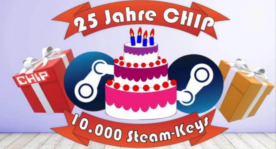 CHIP verschenkt Gratis-Games - 10.000 Steam-Keys kostenlos