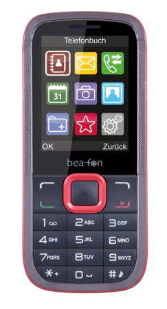 BEAFON C 140 Classic Line schwarz/rot Handy für 9,97€ + Versand