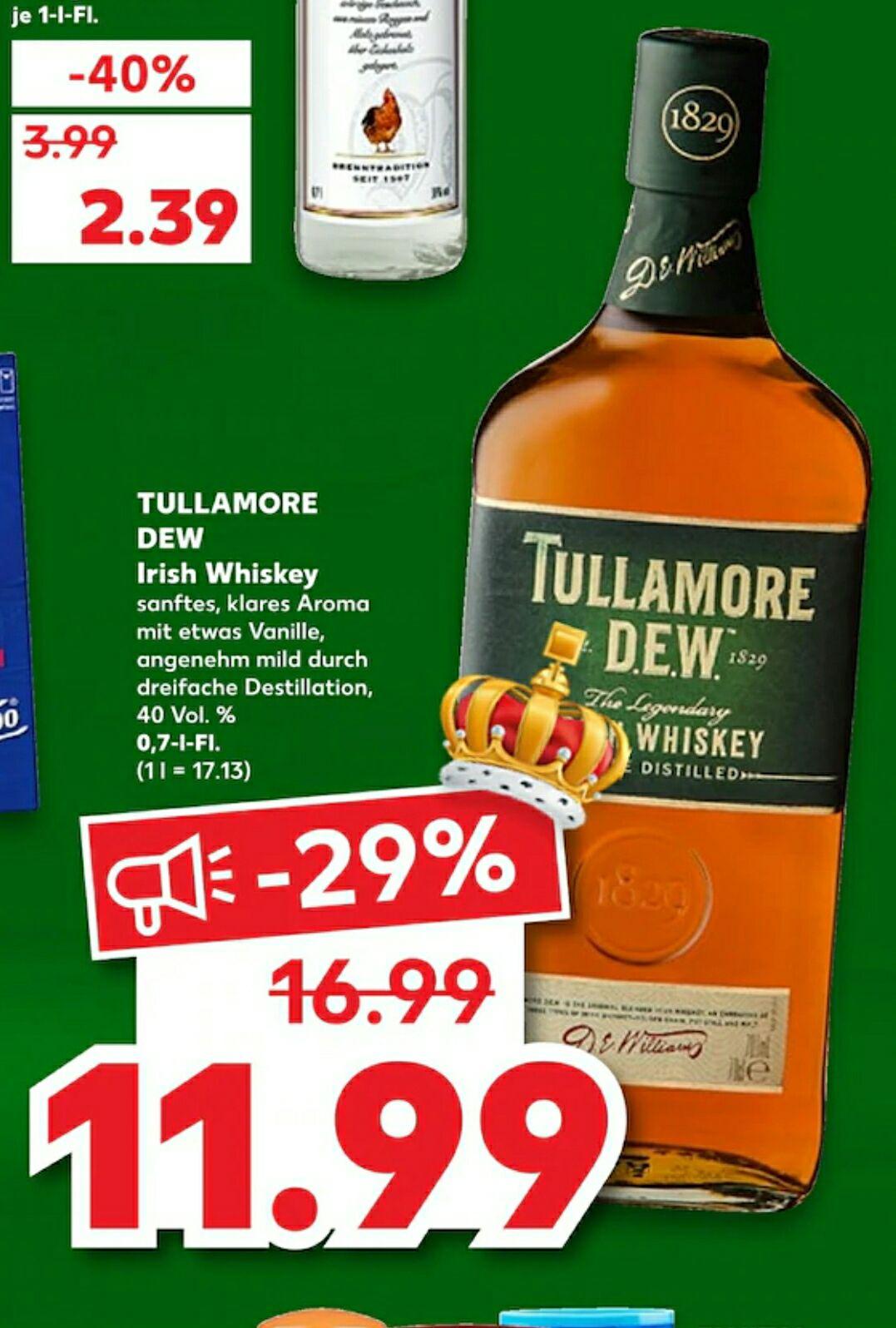 Tullamore Dew 0,7l 40% (Kaufland)