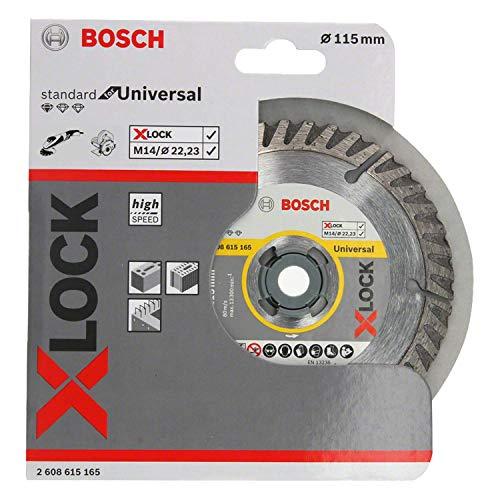 Bosch Professional Diamanttrennscheibe Standard Ø115 mm (Ø125/7,12€)(Universal, X-LOCK, BohrungsØ: 22,23 mm, Schnittbreite 2 mm) Prime