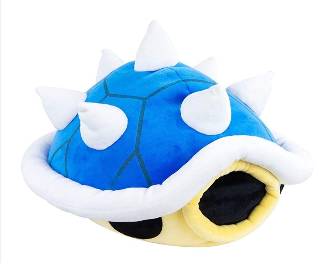Mario Kart Mocchi Mocchi Plüsch Spielzeug Stachi Panzer Kissen, 40 cm groß, blau, Super Mario Kart, Nintendo