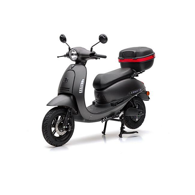 Netto (Prospekt) nur online : 45 km/ h Roller mit Akkuantrieb , Reichweite bis 65 Kilometer ( je nach Körpergewicht)