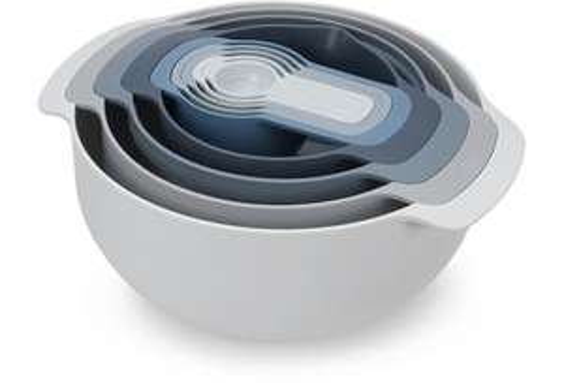 Joseph Joseph Editions Nest™ 9 Plus Kompaktes stapelbares Set zur Speisenzubereitung – Sky