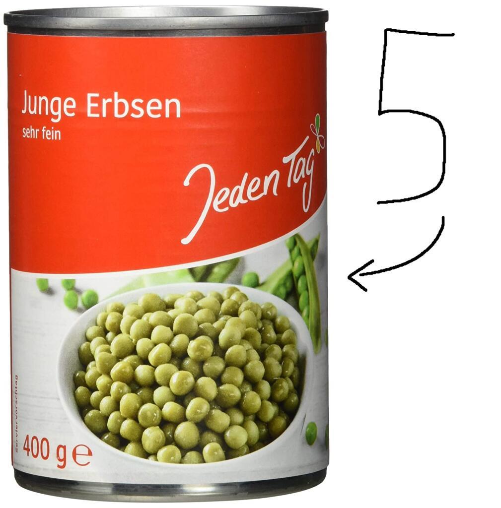 2kg feinste Erbsen von Jeden Tag für 1,96€ inkl. Lieferung