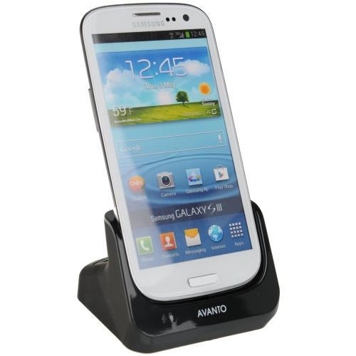 USB Dockingstation / Ladestation für Samsung Galaxy S3 GT-I9300 & GT-I9305 + USB Datenkabel + Ladegerät Netzteil