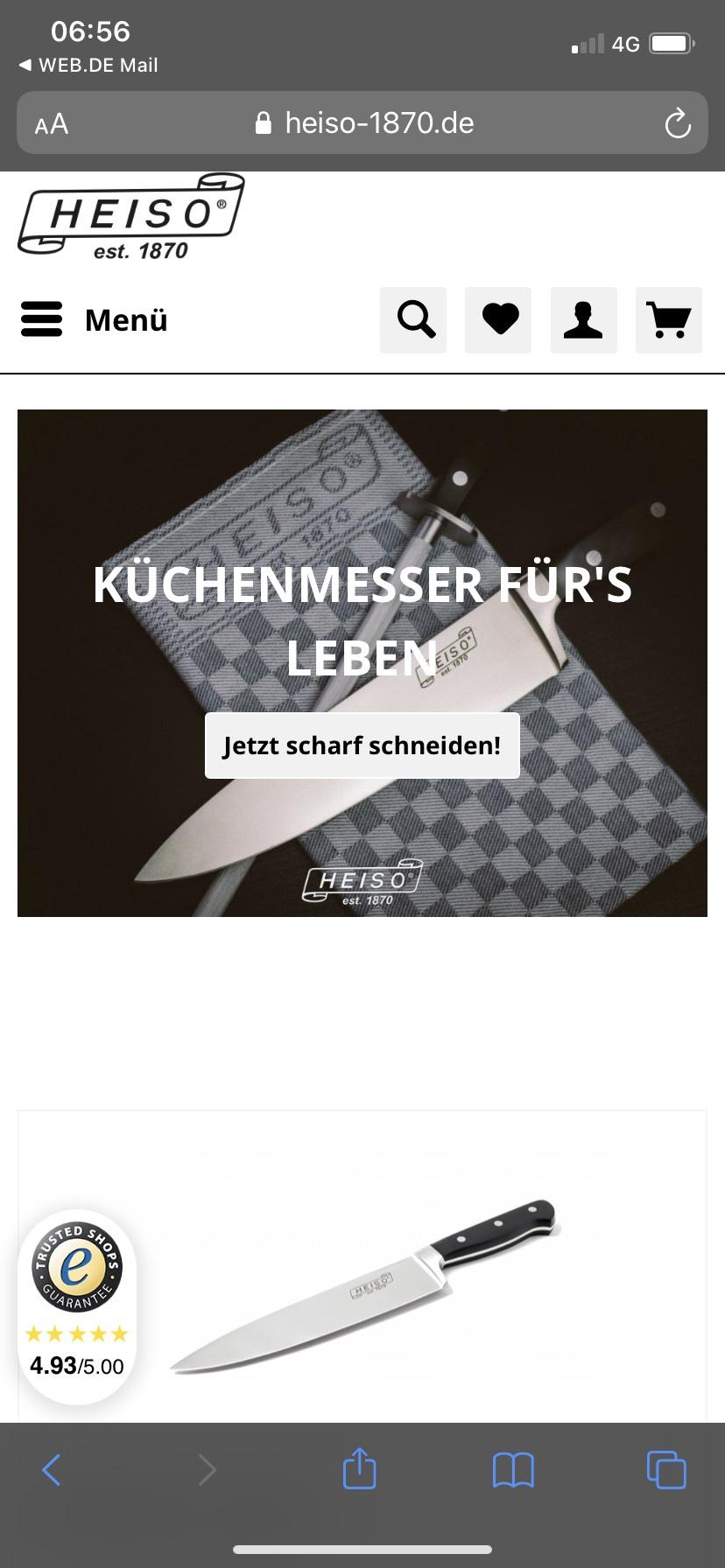 Heiso Solingen Messer Serie Professionell 2x1 Aktion - 1 Kaufen + 1 Gratis dazu!