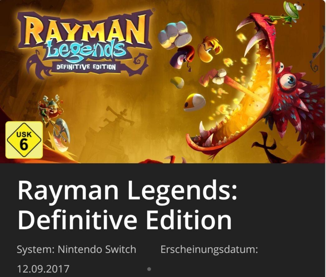Nintendo Switch, RAYMAN LEGENDS: Definitive Edition, Nintendo Online
