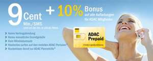 ADAC Prepaid SIM-Karte kostenlos für Mitglieder