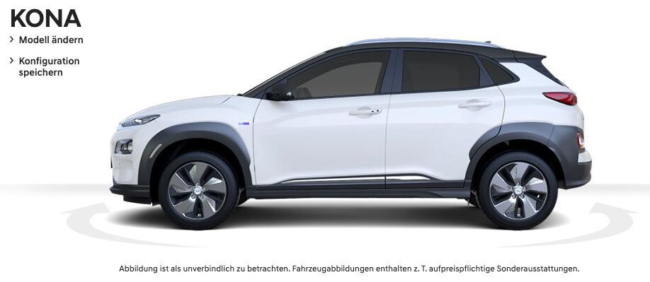 [Gewerbeleasing] Hyundai Kona Elektro Style (204 PS) mtl. 41,18€ + 752,10€ ÜF (eff. mtl. 72,51€), LF 0,1, GF 0,18, 24 Monate, BAFA