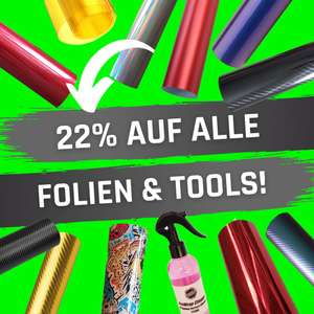 22% auf alles + 20€ Rabatt auf Folien und Tools für Auto & Motorrad bei 2wheels2wrap.de