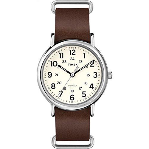 Timex Weekender T2P495, Leder-Armband, Herren-Armbanduhr, 40 mm [Amazon US Import]