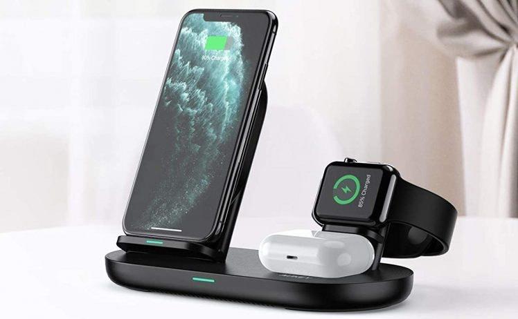 Aukey 3-in-1-Ladegerät für iPhone, Watch & AirPods