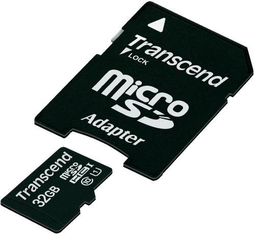 Transcend microSDHC-Karte 32GB Class 10 UHS-1 inkl. SD-Adapter   20 Euro glatt @smdv (+qipu)