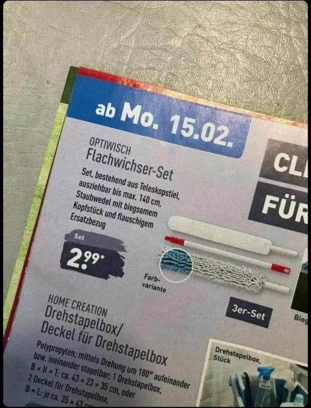 Flachwischer-Set