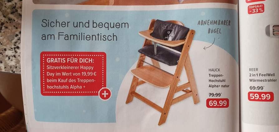 Hauck Treppenhochstuhl Alpha+ Natur ähnlich (!!) Tripp Trapp
