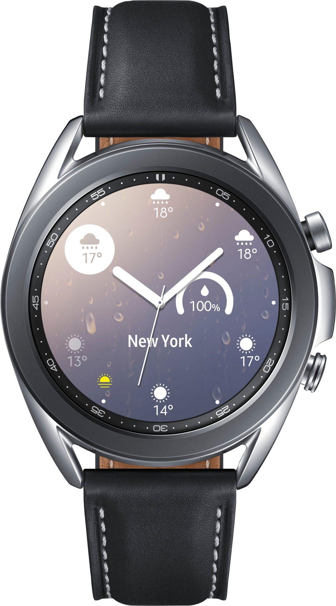 Samsung Galaxy Watch 3, Edelstahl, 41 mm, Bluetooth (SM-R850) Smartwatch (3 cm/1,2 Zoll) Mystic Silver oder Mystic Bronze
